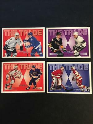 1994/95 Topps Premier Hockey The Trade Set of 4 Cards Robitaille MacInnis
