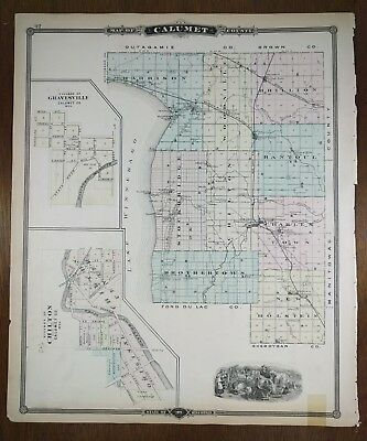 1877 OHIO RAILROAD MAP STARK CARROLL HOLMES CRAWFORD COUNTY Ancient tribes HUGE