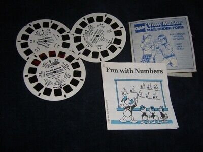 View Master Viewer Set 3 Reels Fun with Numbers