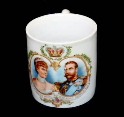Antique King George V & Queen Mary 1911 Coronation small mug