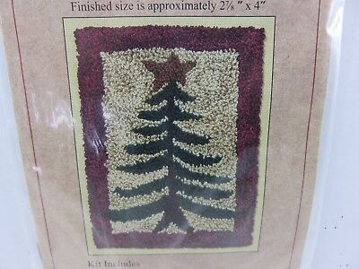 PINE TREE Punch Needle Pattern + Thread NEW By Rachel Pellman