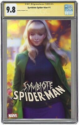 Symbiote Spider-Man #1 CGC 9.8 SS Cover C Stanley Artgerm Lau Signed & Graded