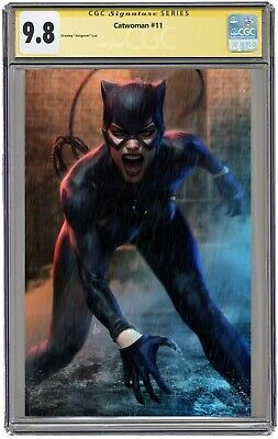 Catwoman #11 CGC 9.8 SS Cover B Stanley Artgerm Lau Signed & Graded Pre-Order