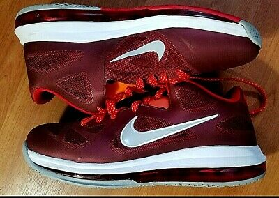 buy online 32a2a f9aba Nike Air Max Lebron LBJ IX 9 Low Size 10.5 Team Red Wolf White 510811 600
