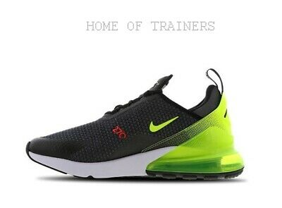 e470acddaf441 Nike Air Max 270 Volt Bright Crimson Men s Trainers Limited Stock All Sizes