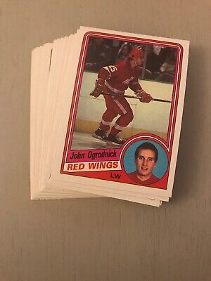 1984-85 Opc Detroit Red Wings Team Set - Mint John Ogrodnick