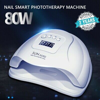 SUN X5Plus 80W Infrared Sensor 36 UV LED Nail Dryer Lamp Curing Gel Machine New
