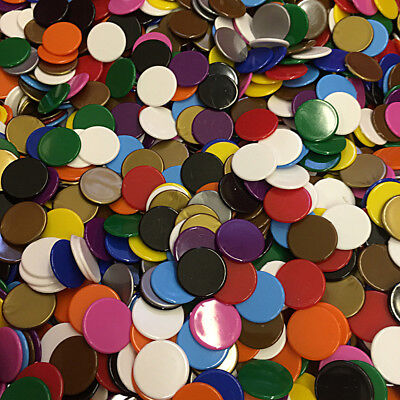 500 x 15mm tiddlywinks Plastic Counters  - choose colour