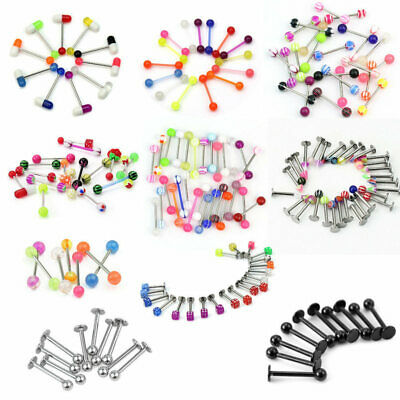 Wholesale Bulk lots Body Piercing Jewelry Belly Navel Tongue Bar Ring Mixed