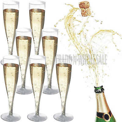 Disposable Champagne Flutes, Glasses, Plastic Glass, Party Cups, Wedding Goblet