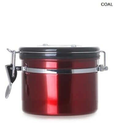 CITTA DIGUO Breathing Airtight Container Red 250g/ Coffee Beans Day Check_NO