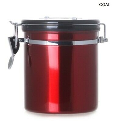 CITTA DIGUO Breathing Airtight Container Red 500g/ Coffee Beans Day Check_NO