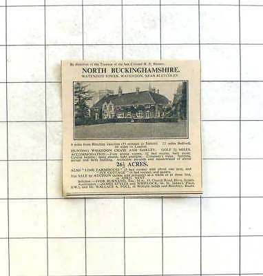 1936 Wavendon Tower, Wavendon Near Bletchley And 26 Acres For Sale