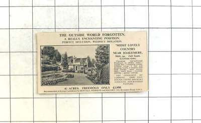 1936 4 And Half Acres Near Haslemere, Eight Bedroom Home, £3950