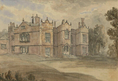 David Markham (1800-1853) - Mid 19th Century Watercolour, Kirklees Hall
