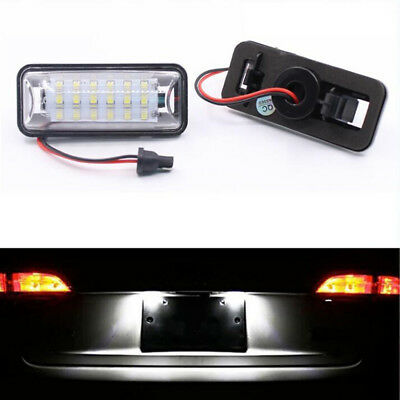 Pair 18 LED License Plate Light White Lamp Kit For Subaru Legacy 2010 - 2015