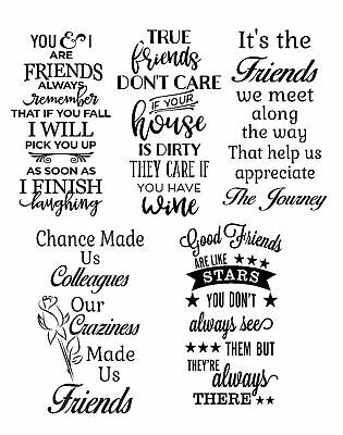 Friends Vinyl Decal Sticker Suitable For Wine Bottle Vase And More.