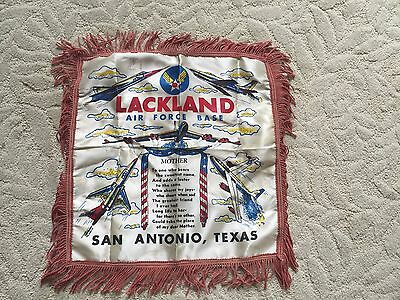 Genuine Military Sweetheart Pillow Cover U.S. Air Force Lackland Air Force Base