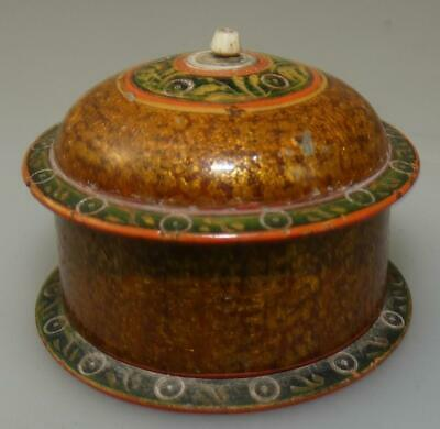 Indian Rajasthan? Lacquer Bindi? Pot With Lid
