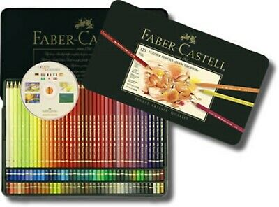 Faber Castell  Professional Polychromos Artists 120 Colour Art Pencils/Metal Box