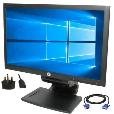 "HP Compaq LA2006x 20"" inch LED Widescreen 16:9 1600 x 900 Power & VGA Cables Inc"