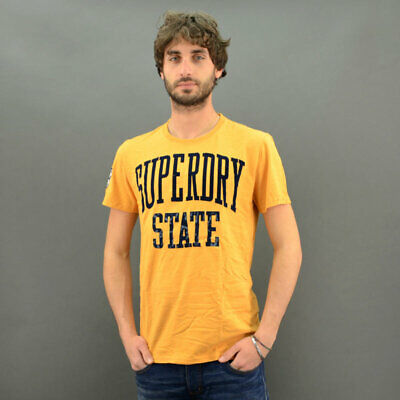 Superdry T-Shirt Dry State Tee Ocre Modèle Jaune