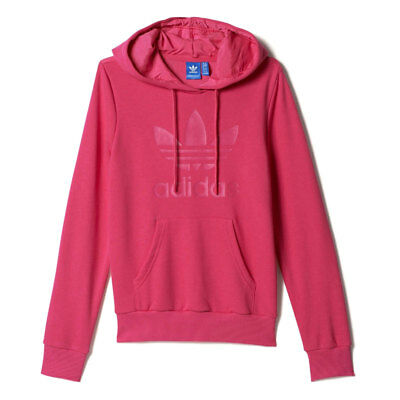 Adidas Women's Sweatshirt Oversize Sweat DH3140 Red Mod