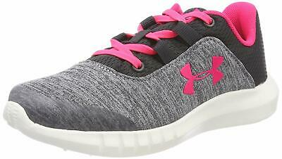 Under Armour GPS MOJO AL Girls Grey Pink Trainers Casual Sporty Shoes Slip On
