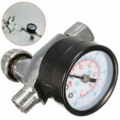 HVLP Spray Gun Air Regulator With Pressure Gauge Diaphragm Control Auto Paint
