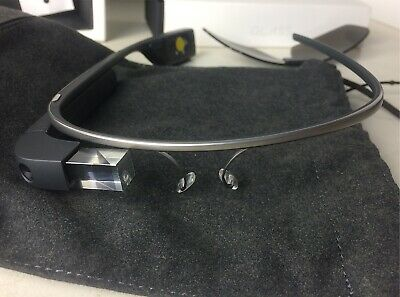 Google Glass Explorer Edition XE-C Charcoal + Earbud + Sunglass Lens + Case