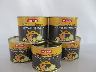 Menzi Hühnersuppe Ravensberger Art, Hühner Suppe, 5 x 200ml