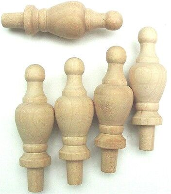 """Wood Finial Turning Pack of 12 Size  2-1/4"""" High"""