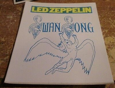 LED ZEPPELIN STICKER COLLECTiBLE RARE VINTAGE 90'S METAL LIVE WINDOW DECAL
