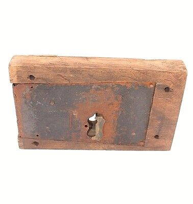 Wooden lock Walton & Walker  Antique Metal section  Victorian Architectural B
