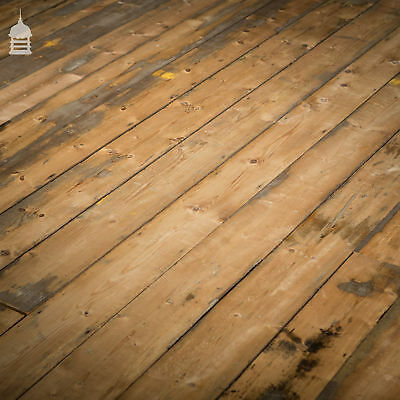 Reclaimed Victorian Skimmed Pine Tongue and Groove Floor Boards