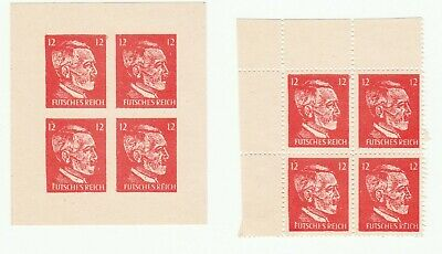 Germany 3rd Reich Hitler quatrain sheet of stamps beautiful new no gum