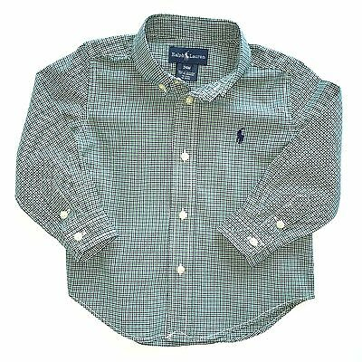 Ralph Lauren Polo Baby Boys Lightweight Checked Cotton Shirt, 24 Months - EUC!