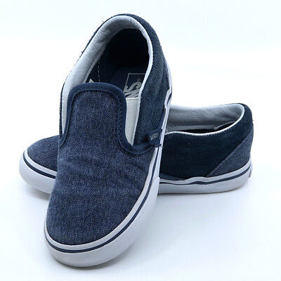 316d5e7c2d VANS BOYS TODDLERS Kids Suede & Suiting Classic Slip-On Sneaker, Blue, Size  10