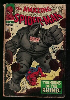 Marvel comics 1st Appearance Rhino 41 VG- 3.0 Spiderman Amazing 1966