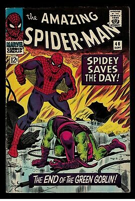 Marvel comics Amazing Spiderman 40 1966 Green Goblin classic cover FN 6.0