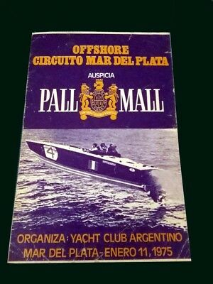 OFFSHORE RACE BOAT MAR DEL PLATA 1975 Old Official Program Yacht Club Argentino