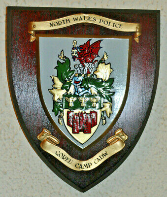 North Wales Police Goreu Camp Cadw wall plaque shield Constabulary