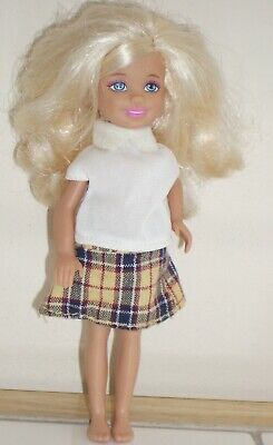 Mattel Stacie Barbie's Little Sister Dressed Doll Long Blond Hair 2013