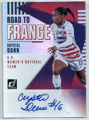 41a2a262f Crystal Dunn 2018 19 Panini Donruss Road To France U S Women s Team AUTO SP  MINT