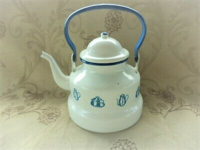 SHABBY CHIC KETTLE | FRENCH ENAMEL | Country style | Farmhouse style | (ref EF)