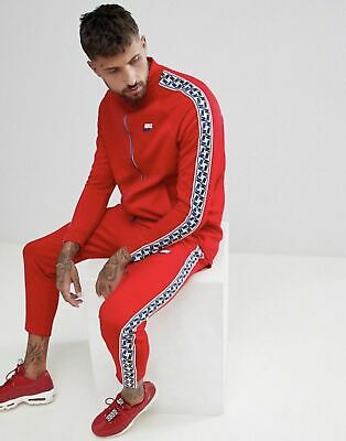 5ec6ddbbf295 MEN S NIKE SPORTSWEAR AM TAPED TRACK PANTS Gym Red Size XL AJ2297 657