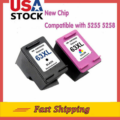 #63xl 63 XL New Chip Ink Cartridge For HP ENVY 4523 4524 OfficeJet 5255 5258