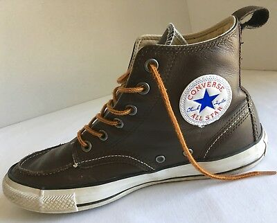 820dcd91240296 Converse Chuck Taylor All Star Men s 8 Classic Boot Hi-Top Brown Leather  125651c