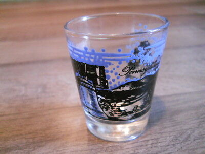 PENNSYLVANIA STATE Clear SHOT GLASS Cup Drink Shotglass Alcohol