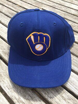 the latest a3c56 11bbe Milwaukee Brewers 59FIFTY 5950 NEW ERA 7 1 8 fitted cap MLB hat